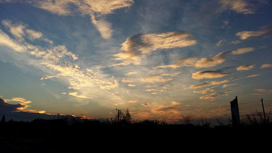 Fall Autumn Sunrise Cloud Sky Morning Slavonski Brod Croatia
