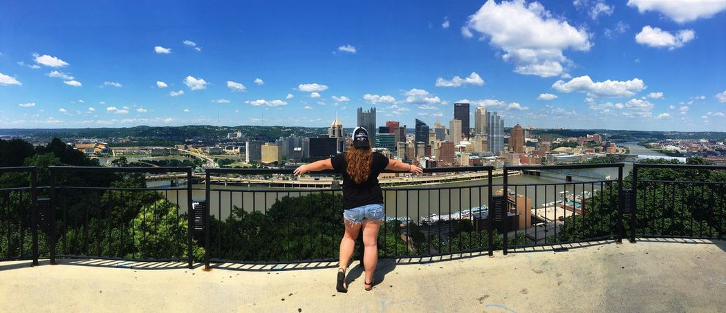 Look at this view 🙌🏻 Check This Out That's Me Mount Washington  City Pittsburgh This View View Views View From Above Hanging Out Hello World Selfie ✌ Self Enjoying Life Hi! Ootd Today's Hot Look Booty Backside Loving This View Loving Life! Outdoors Outdoor Photography River Sky And Clouds