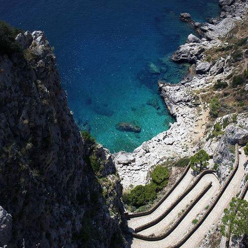 Capri Capri Italia Mare Sea Scala Krupp Travel Travelling Landscape Travelgram Beautiful Colours Colors