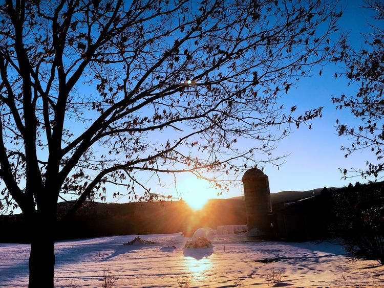 """Never let success get to your HEAD, never let failure get to your ❤️"" Suntset Farmhouse Snow ❄ Nature Landscape First Eyeem Photo"