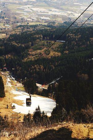 Jested Transportation Scenics Nature Snow Beauty In Nature Landscape Czech Republic Trip