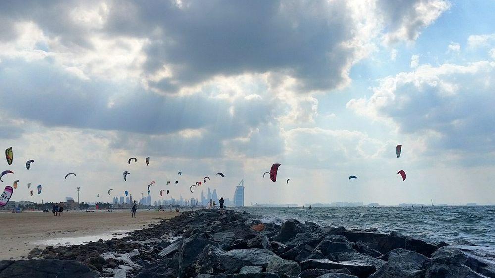 Dubai Beach Burj Al Arab برج العرب Kitesurfing Gulf Coast Photography UAE , Dubai EyeEmNewHere