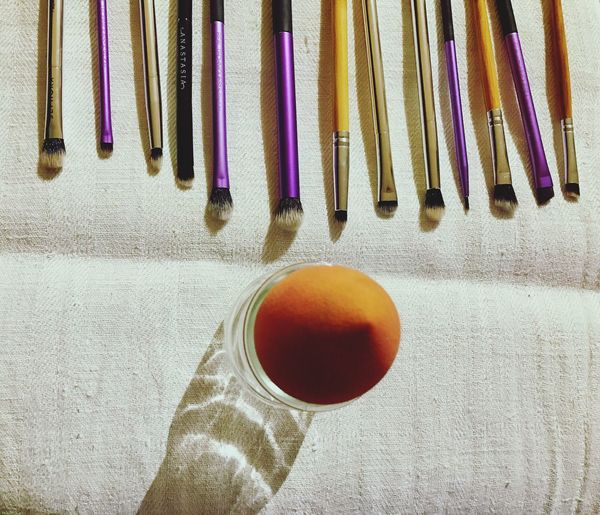 Cleaning my brushes today 💧✨ Indoors  Makeup Makeupbrushes Sephora Realtechniques  Realtechniquesbrushes Anastasiabeverlyhills Beautyblender