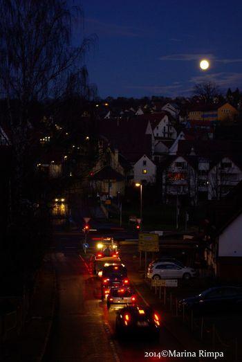 Night Lights Moon The Purist (no Edit, No Filter)