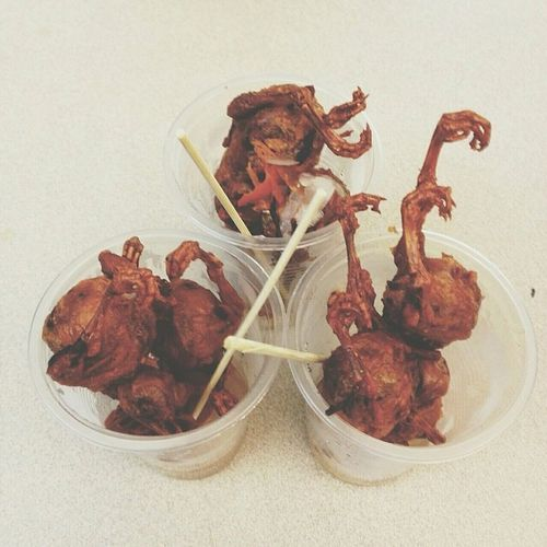 9pcs of One Day Old Chick for breakfast! :) Streetfood Onlyinthephilippines ExoticFood