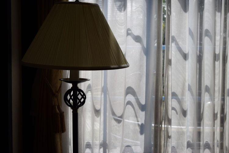 Close-up of lamp hanging