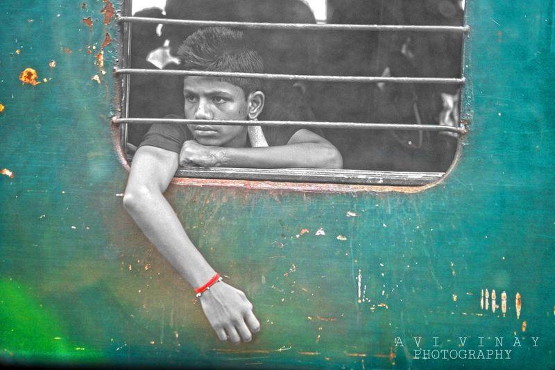 Boy Train Ralwaystation India Streetofindia Photography SonyAlpha58 Cameraeffects Camera