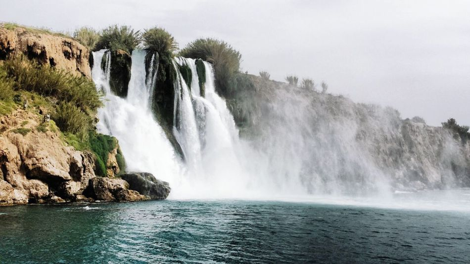 Waterfall Water Beauty In Nature Nature Landscape Outdoors Day Sky Scenics Düdenwaterfall Düden Duden Waterfall Antalya Antalya Turkey Antalya♥ Antalyaturkey Turkey Türkiye Sea Seaside Sea And Sky Sea And Rocks Sea