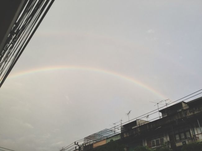 Rainbow Double Rainbow No People Building Exterior Day Outdoors Architecture Built Structure Nature Sky Beauty In Nature Aftertherain Afterthestorm  Bangkok Colorful
