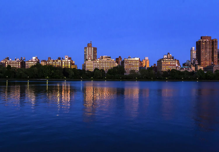 Central Park Reservoir Central Park Scenic Urban Scenic Reflections