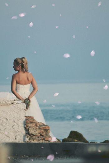 Mirando el mar .