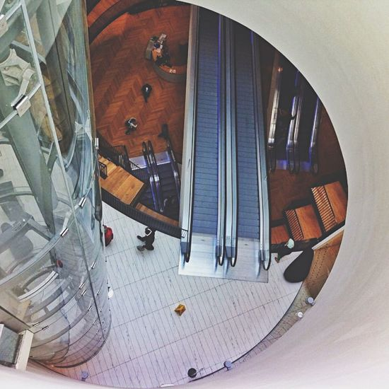 Found photo from my last trip back home, Birmingham Library Birmingham Birmingham UK Birmingham City Centre Interior (null) Looking Down Escalator Floor People Lift Shaft Lift Elevator U.K U.K. Great Britain United Kingdom England Home Found On The Roll