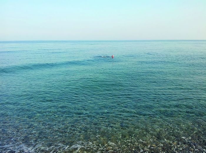 Infinity... Alone In The Sea Alone In The Water Swimming Man Sicilian Sea Italian Sea Transparent Water Clean Sea Clean Water Relax Relax Time  Total Relax Freshness Of Water Nature Photography Sea Photography Water Sea Adventure Sky Horizon Over Water Calm #FREIHEITBERLIN