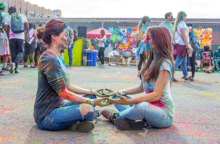 Festival of Color Brooklyn Colors Colours Festival Festival Of Colors Festival Of Colours Hanging Holiday Indian Landscape Lifestyles New York Pag'wah