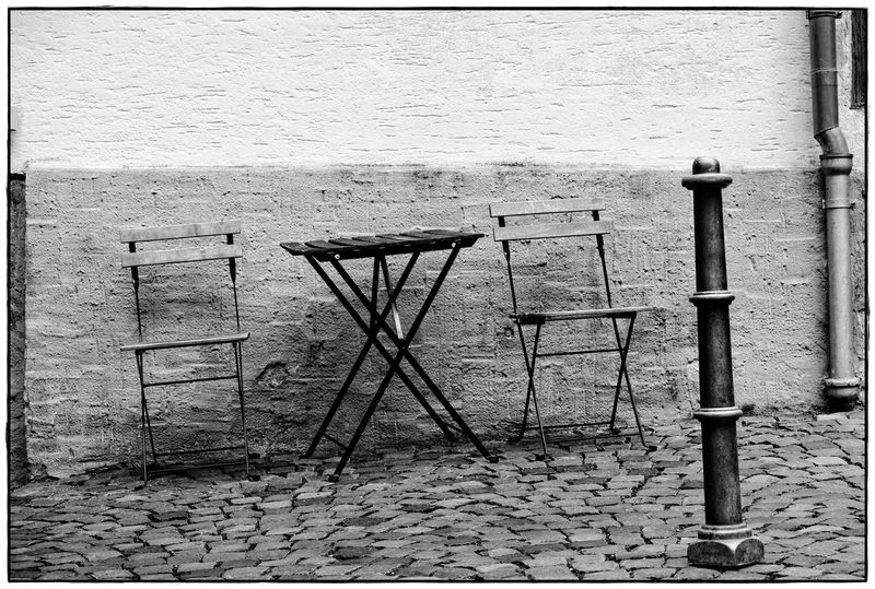 Life is weird Wall Weird Architecture Blackandwhite Chairs Day Lawoe No People Outdoors Table