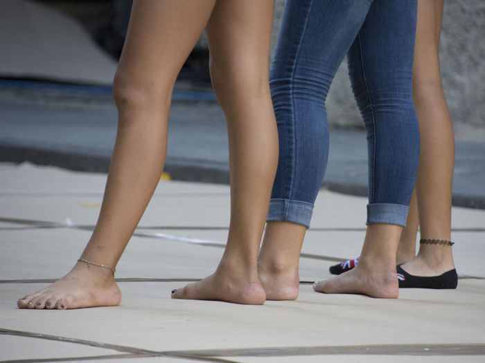 """Havana in motion"" street dance festival rehearsal Havana Cuba Streetphotography Dance Rehearsal Dancers Young Women Young Dancers Low Section Togetherness Human Leg barefoot Friendship Human Foot Close-up Foot Nail Polish Toe Toenail Leg"