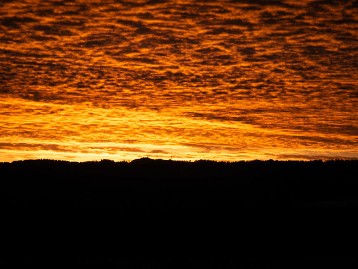 Sunset Orange Color Sky Beauty In Nature Backgrounds Nature Black Color No People Silhouette Scenics - Nature Yellow Dark Vibrant Color Red Dramatic Sky Outdoors Copy Space Abstract Cloud - Sky Tranquility Textured Effect Abstract Backgrounds