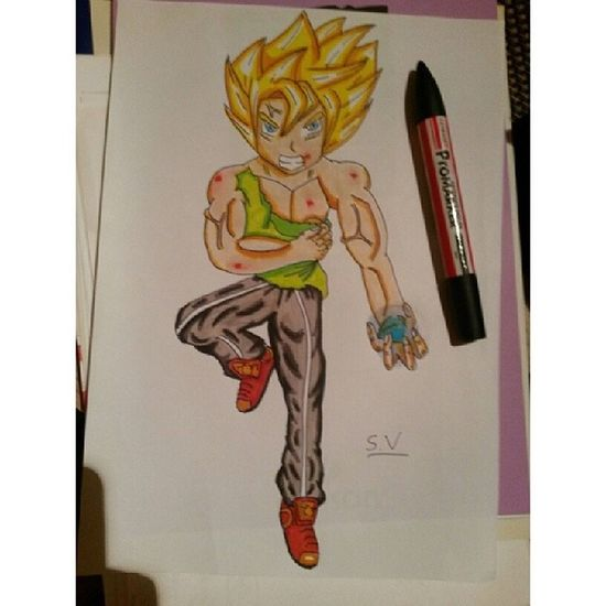New sayan with blood Draw Drawing Drawingwork Dessin dessins dbz dbzdrawing dbzfan dragonball dragonballz dragonballer goku vegeta colors markers supersaiyajin instadraw anime animedrawing art instalike tagsforlikes otaku artwork webstagram instadraw follow forfollow