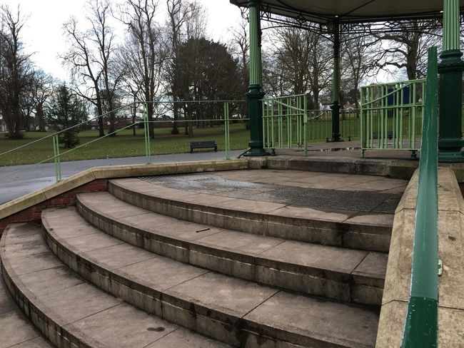 Band stand Steps Band Stand Tree Built Structure Bare Tree No People Day Architecture Park - Man Made Space Outdoors