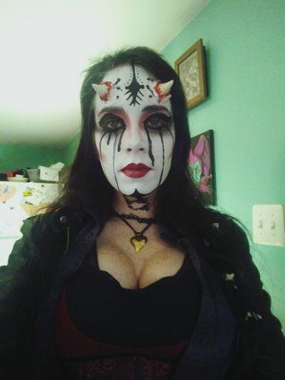 Makeup Alternativemodel Creepy Witch Demon Corsette  Newjerseymodel njmodel