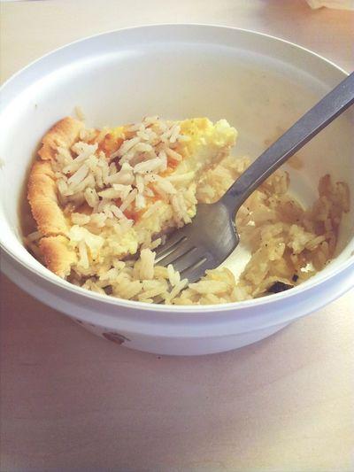tarteaux fromages avec riz poulet champingnons au taf c trooo bon Food Travail Dur Club Life Riz