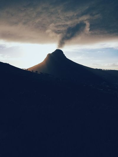 Lion's Head, Cape Town. Beauty In Nature Cloud - Sky Day Landscape Mountain Nature No People Outdoors Scenics Sky Tranquil Scene Tranquility