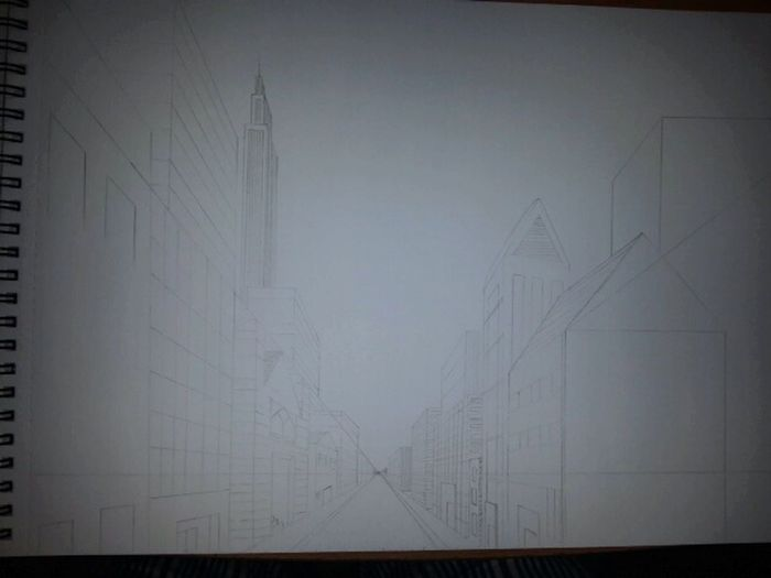 Onepointperspective Drawing Unfinished Work...
