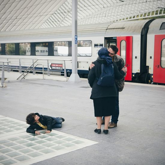 The Moment - 2015 EyeEm Awards Kissing Goodbye Train Station Capture The Moment Photos That Will Restore Your Faith In Humanity