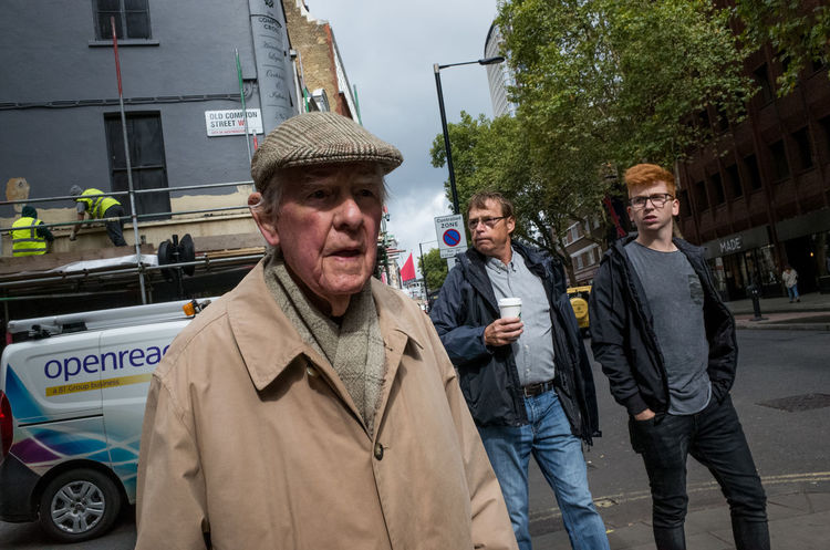 London Old Man Soho Day Elderly Flat Cap Front View Old Compton Street Outdoors Real People Street Streetphotography Uk Young Men