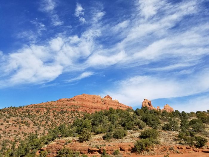 Painted rocks and painted sky Paintedrock Redrocks EyeEm Selects Cloud - Sky Nature Sky Beauty In Nature Scenics Blue Outdoors Desert Landscape