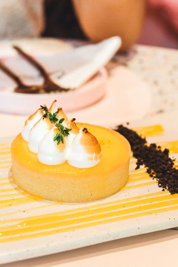 Lemon Tart Tart Tart - Dessert Lemon Tart Happiness Yummy Delicious Photography EyeEm Selects Appetizer Plate Cake Food And Drink Cream Whipped Dessert Topping