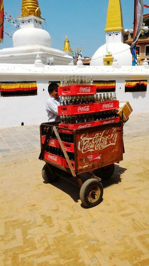 Coca Cola Boudhanath Stupa Nautical Vessel Water Riding Sky