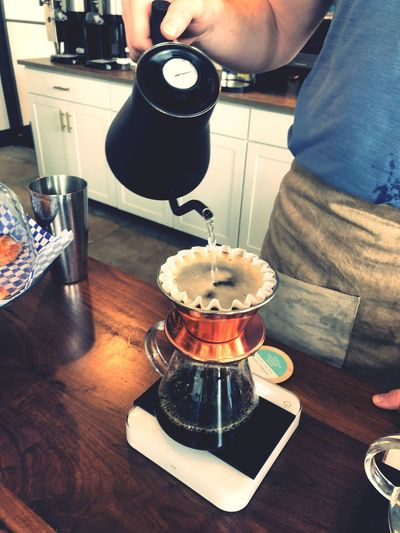 Pour Over Food And Drink One Person Real People Drink Indoors  Food Table Pouring Coffee - Drink Coffee Lifestyles Preparing Food
