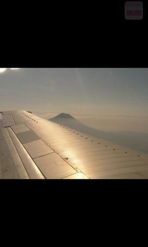 From An Airplane Window Mt.Bromo Sky And Mountains INDONESIA