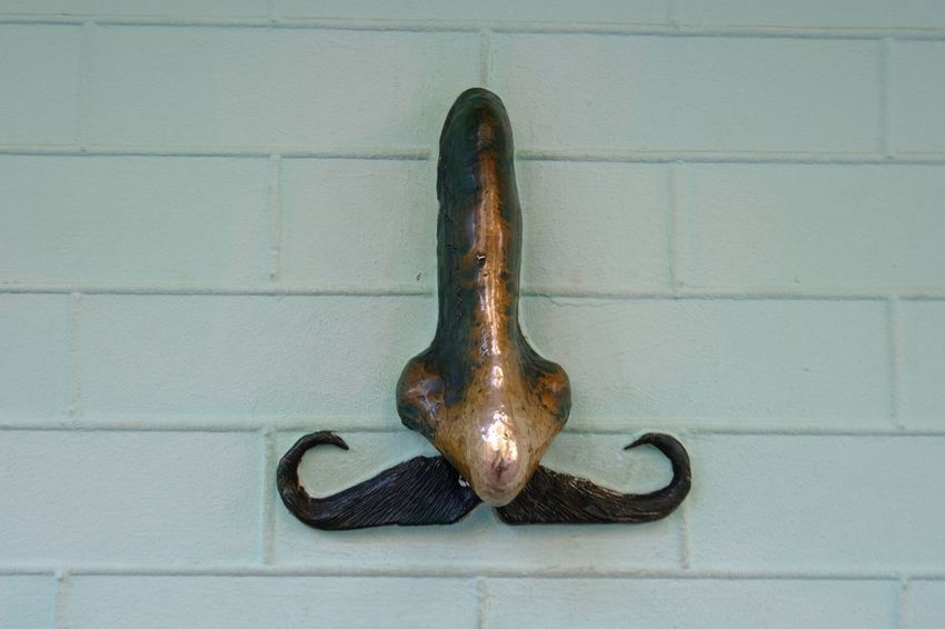 The nose of Gogol Kiew Nose Metal Wall - Building Feature Rusty Close-up No People Hanging Handle Old Design Still Life