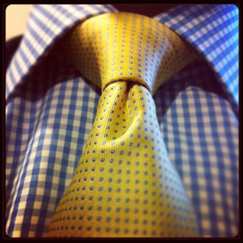 Dot- check Sartorial Splendor Gentlemen Self Portrait Fashion