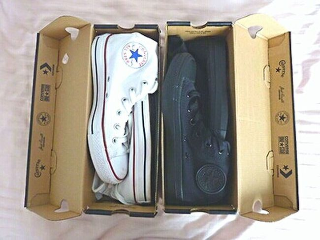 Shoes Converse White Converse Blackconverse