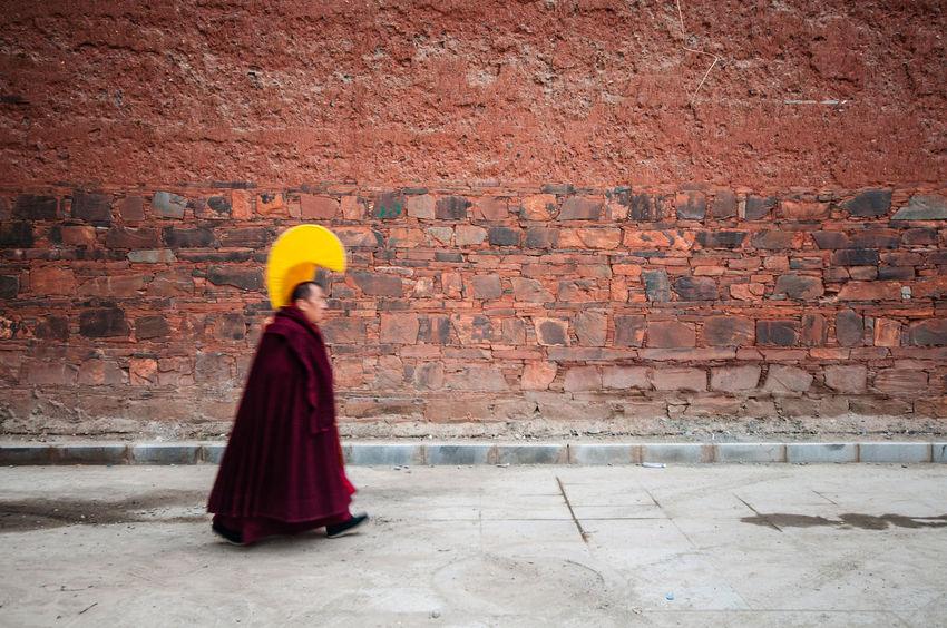 Lama Brick Wall Brick Wall China Gansu Province Labrang Lama Religion Temple Tibetan Buddhism Tourism Travel The Street Photographer - 2017 EyeEm Awards Paint The Town Yellow