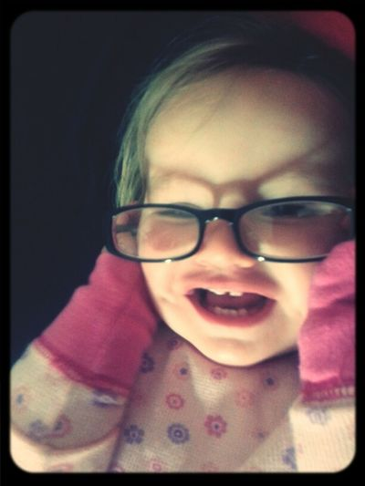 playing with mommy's glasses #hipsterbaby