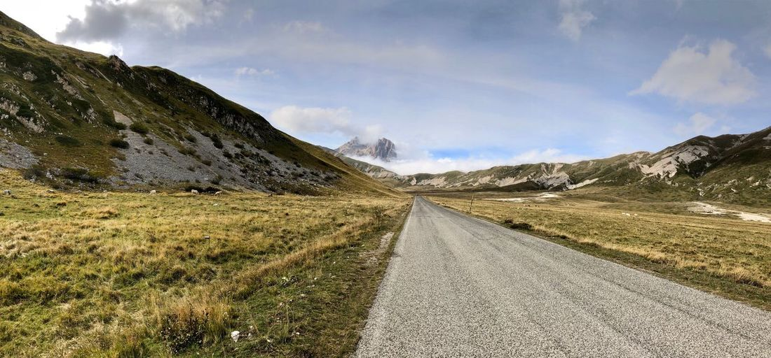Sky Cloud - Sky Tranquility Tranquil Scene Nature Scenics - Nature Beauty In Nature Road The Way Forward Mountain
