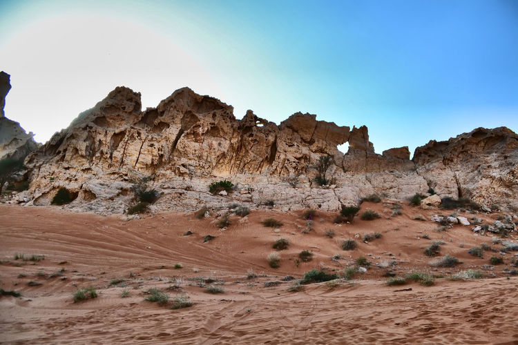 Arid Climate Beauty In Nature Climate Desert Environment Eroded Formation Geology Land Landscape Mountain Nature No People Non-urban Scene Outdoors Physical Geography Rock Rock - Object Rock Formation Sandstone Scenics - Nature Sky Solid Tranquil Scene Tranquility