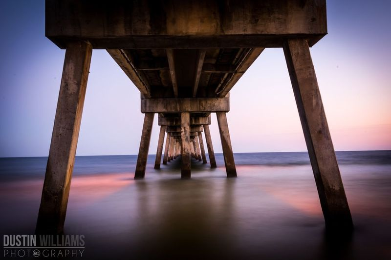 Underneath the Pier at Okaloosa Island, FL. Pier Florida Sunset