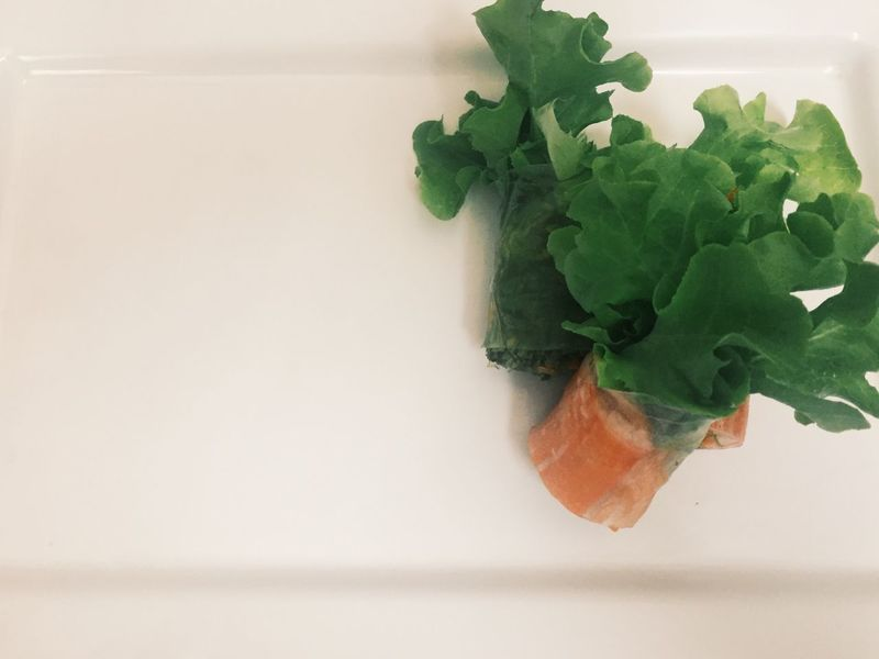 clean food fresh salad roll serving on white background. Freshness Food Healthy Eating Close-up No People Textured  Clean Food Eating Healthy Finger Food Canapé Healthy Lifestyle Healthy Food Veggies Vegetable White Background Salad Appetizer Copy Space Healthy Fusionfood Clean Eating