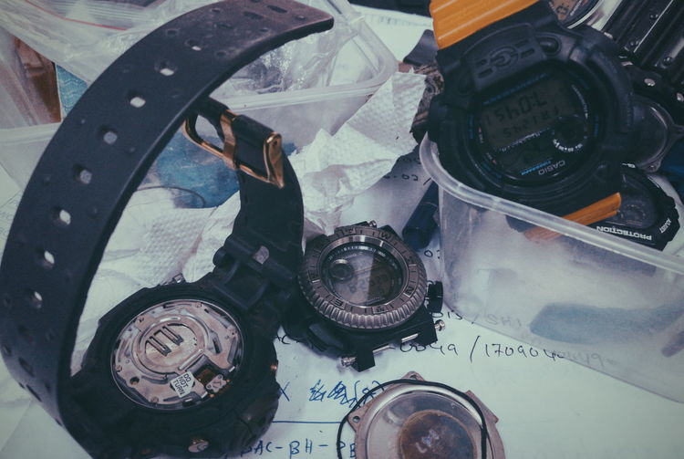 G Shock Lover Skyforce Dw6700 Gshock Gshock Collection Junkgshock High Angle View Close-up No People Indoors  Technology Day Ink