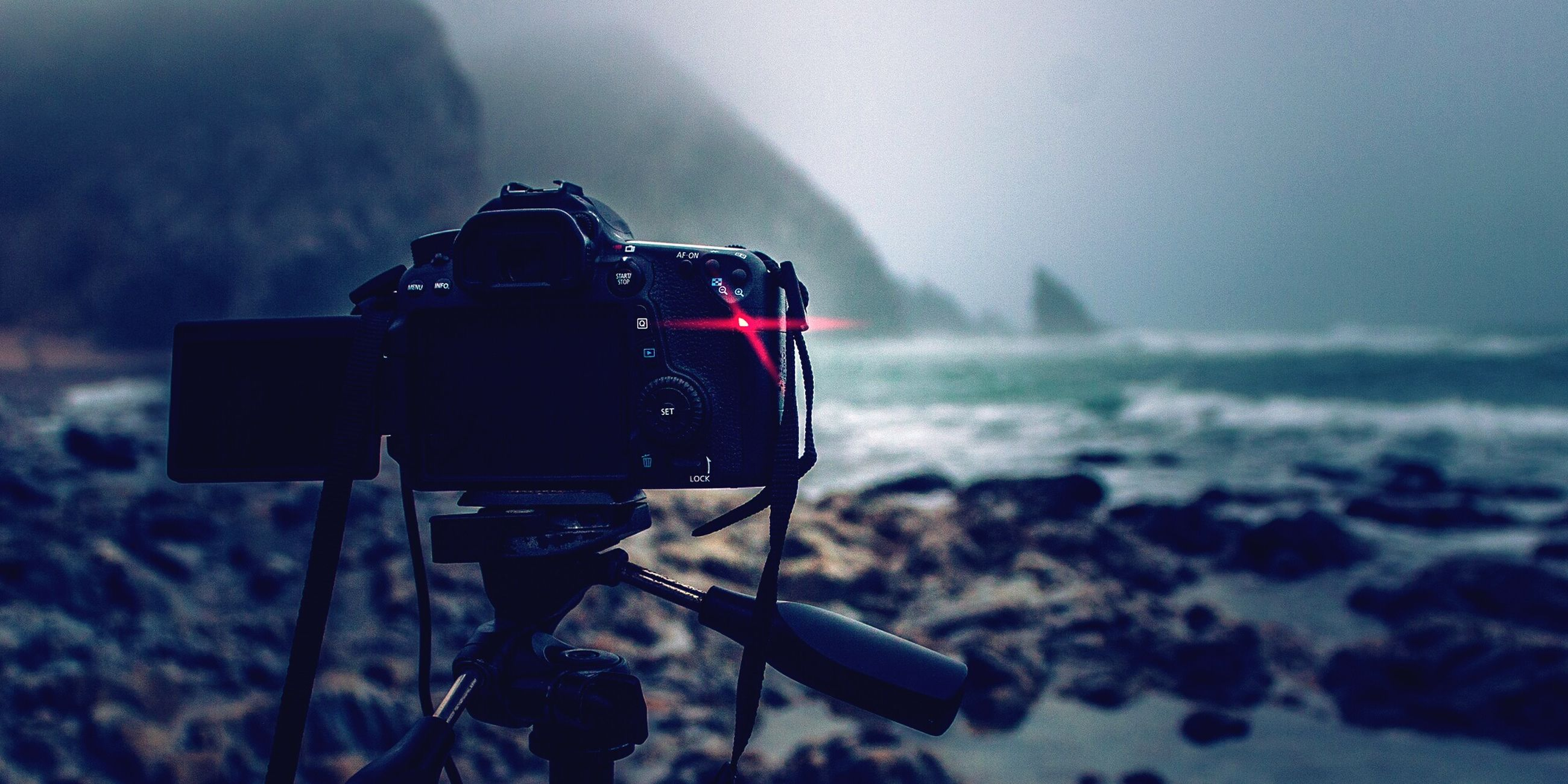 focus on foreground, transportation, mode of transport, sky, close-up, selective focus, nature, photography themes, sea, technology, outdoors, travel, beauty in nature, tranquility, camera - photographic equipment, nautical vessel, day, water, landscape, weather