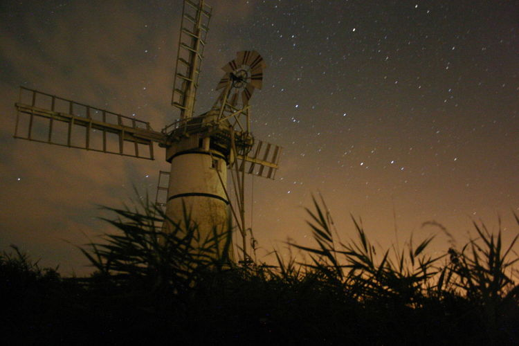 Star - Space Tranquil Scene Astronomy Star Field Sky Night Astrophotography Thûrne Norfolk Uk Norfolkbroads Windmill Windmill By Night Windmill Silhouette