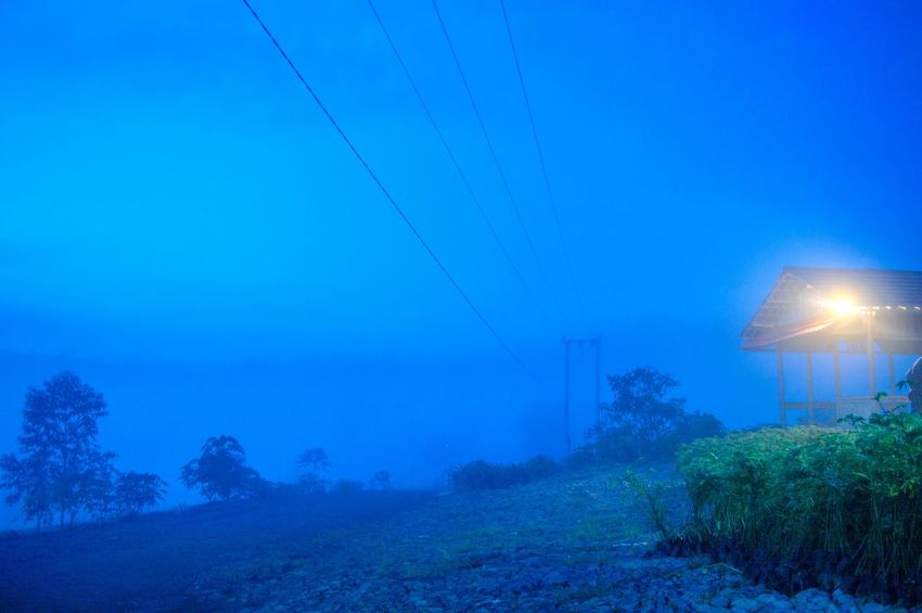 It's Cold Outside Showcase: January Night Nightphotography Night Lights Night View Night Photography Light Shades Of Blue Light And Shadow Landscape Landscapes Sound Of Life Fog