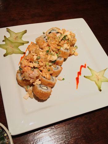 Mi cena👌🏻 Sushi Time Sushiroll Delicious Dinner Followme Night Yummy