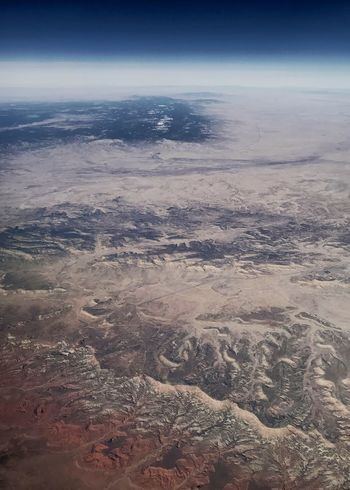 Desert vortices. Atmosphere Curvature Of The Earth Vertical Desert Colors River System Erosion Drainage Channel Drainage Rugged Landscape Western USA Desert Nature Beauty In Nature Scenics Outdoors Tranquility Tranquil Scene Landscape