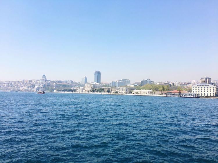 Built Structure Blue Clear Sky Bousphorus Dolmabahçe Palace /İstanbul